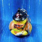 Retired Fire Fighter Rubber Duck Key Chain