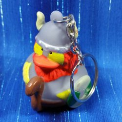 Viking Rubber Duck Key Chain