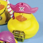 Lady Pirate Bones Rubber Duck