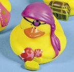Lady Pirate Patch Rubber Duck