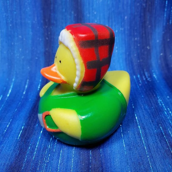Lumberjack in Green Flannel Rubber Duck - Click Image to Close