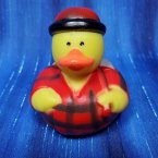 Lumberjack in Red Flannel Rubber Duck