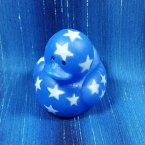 Blue Mini Patriotic Start Rubber Duck