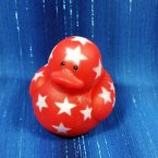Red Mini Patriotic Start Rubber Duck