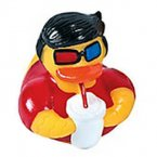 Movie Party Boy Rubber Duck with 3D Glasses and Soda