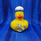 Navy Nautical Rubber Duck with Anchor