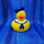 Navy Nautical Rubber Duck with Scarf