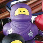 Ninja Rubber Duck with Throwing Star in Purple