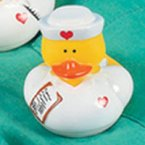 Nurse Carol Rubber Duck with Chart