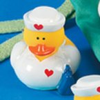 Nurse Sandy Rubber Duck with Satchel