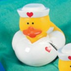Nurse Terry Rubber Duck with Thermometer