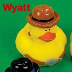 Old West Wyatt Rubber Duck