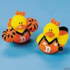 Orange & Black Cheerleader Rubber Ducks