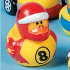 Race Car Driver 8 Rubber Duck