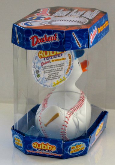Duckout Baseball Rubba Duck in 360 Collector's Case - Click Image to Close