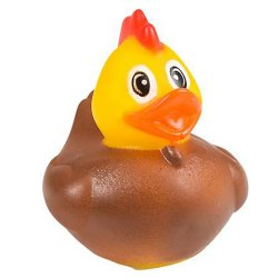 Barnyard Animal Rubber Duck - Chicken