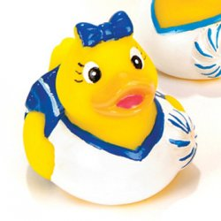 Navy Blue Cheerleader Rubber Duck