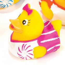 Pink Cheerleader Rubber Duck