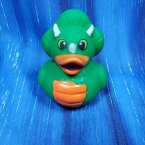 Dinosaur Rubber Duck Green Jurassic Three Horn
