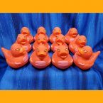 12 Dinosaur Rubber Duck Red Jurassic T-Rex