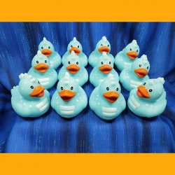 12 Dinosaur Rubber Duck Light Blue Jurassic Apatosaurus