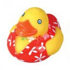 "3"" Luau Rubber Duck Big Red"