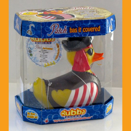 Pirate Patch Rubba Duck in 360 Collector's Case - Click Image to Close