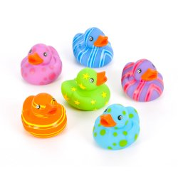 Brightly Patterned Rubber Ducks