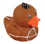 "Textured 1.5"" Football Rubber Duck"