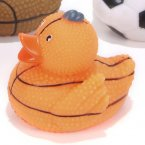"Textured 2"" Basketball Rubber Duck"