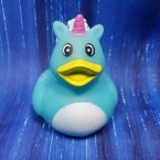 Unicorn Blue Rubber Duck