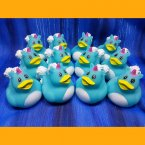 12 Unicorn Blue Rubber Ducks