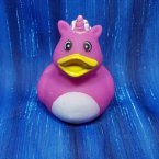 Unicorn Bright Pink Rubber Duck