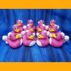 12 Unicorn Bright Pink Rubber Ducks