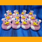 12 Unicorn Light Pink Rubber Ducks