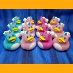 12 Unicorn Mixed Colors Rubber Ducks