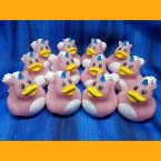 12 Unicorn Rose Rubber Ducks
