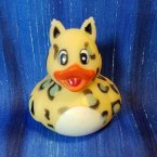Zoo Animal Golden Leopard Rubber Ducky