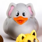 Zoo Animal Indian White Elephant Rubber Ducky