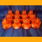 12 Zoo Animal Tiger Rubber Ducky