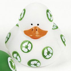 White Recycle Rubber Duck