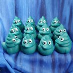 12 Blue Berry Poop Emoji Swirl Rubber Ducks