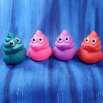 Colorful Poop Emoji Rubber Ducks
