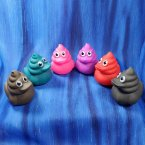 Rainbow of Poop Emoji Rubber Ducks