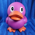 Purple Squeaky Rubber Duck