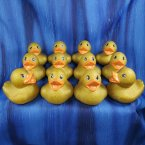12 Glitter Metallic Gold Rubber Ducks