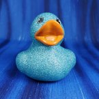 Glitter Crystal Blue Rubber Duck