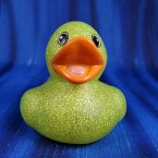 Glitter Lime Green Rubber Duck