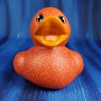 Glitter Red Rubber Duck
