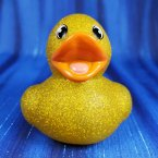Glitter Metallic Gold Rubber Duck